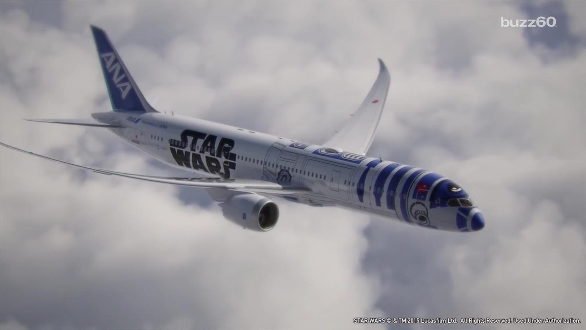 Star Wars themed airplanes have fans shooting for the Moon of Endor