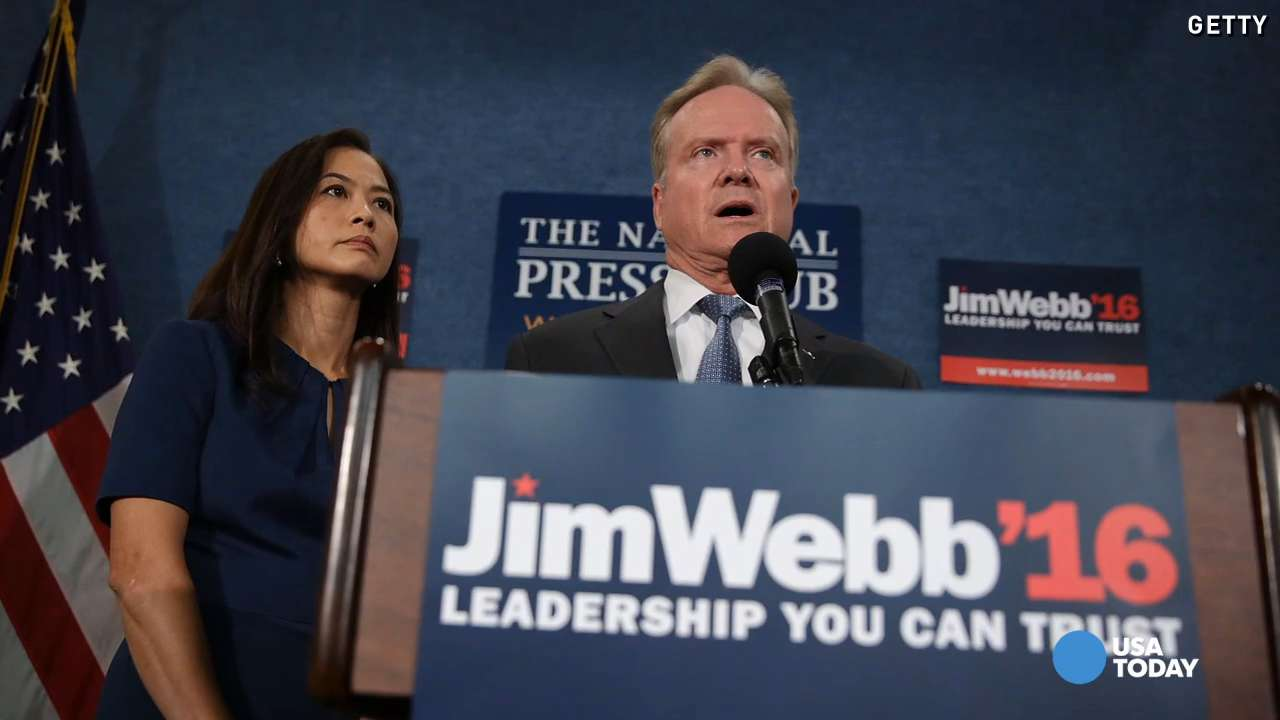 Jim Webb drops out of Democratic presidential race