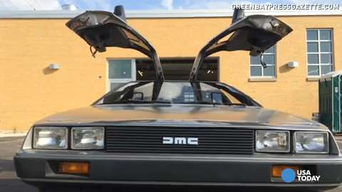This DeLorean is in pristine condition