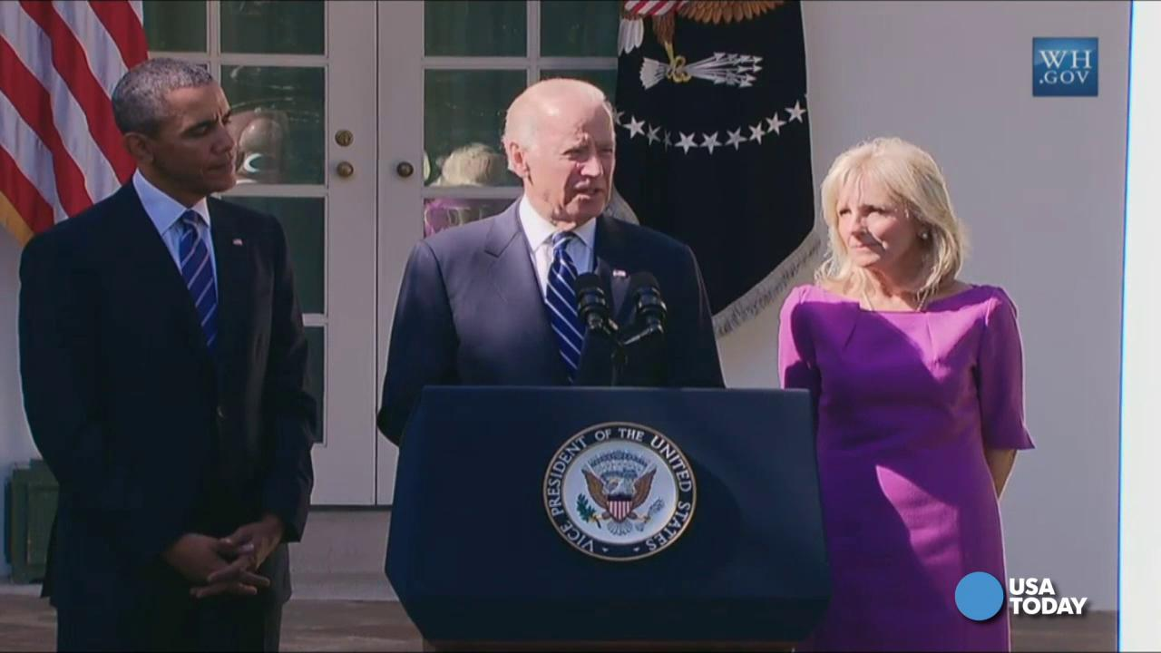 VIce President Joe Biden delivered statements from the Rose Garden at the White House.