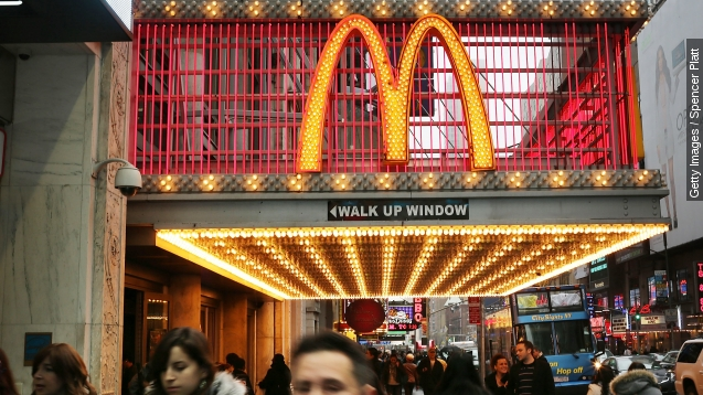 McDonald's sales are up For the first time since 2013