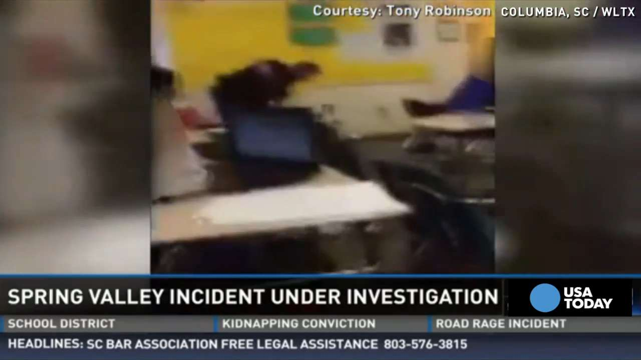 Video shows deputy rough up girl in classroom