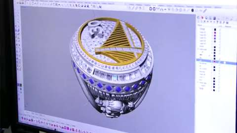 Meet the man who designed Warriors' championship bling