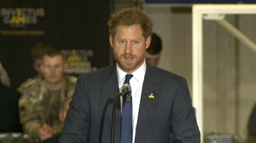 Prince Harry speaks up for veterans