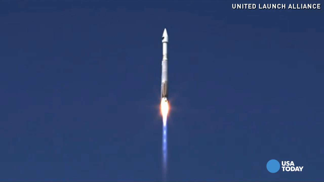An Atlas V rocket launched from Cape Canaveral, carrying a GPS satellite for the United States Air Force.