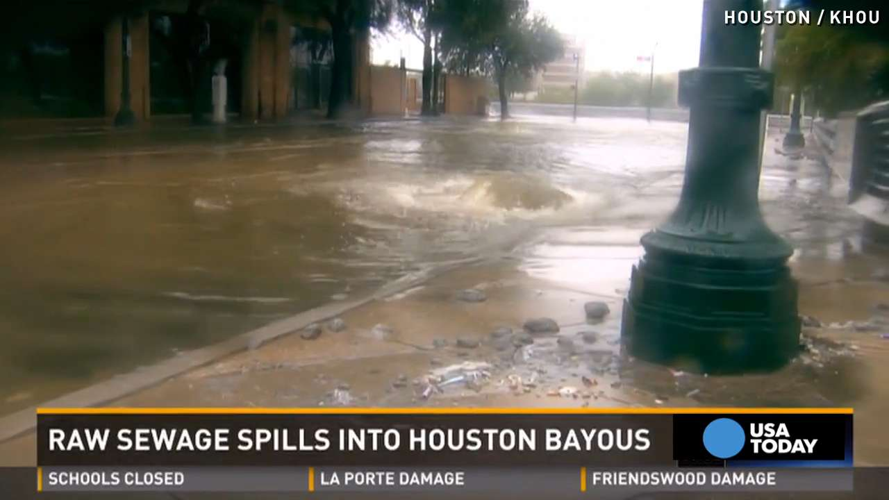 2m gallons of sewage spills into houston bayous for Porte 12 fooding