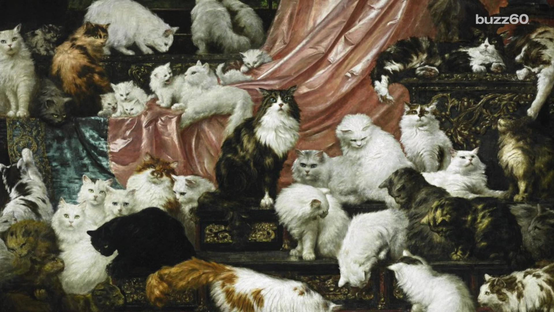Largest cat painting in the world sells for almost $1 million