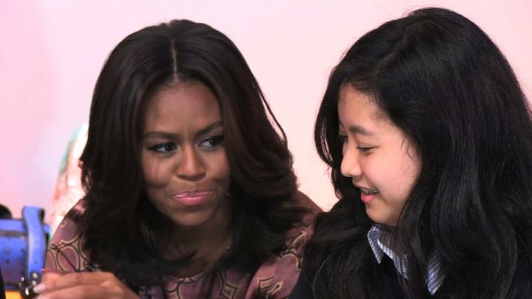 Michelle Obama calls for action on girls' education