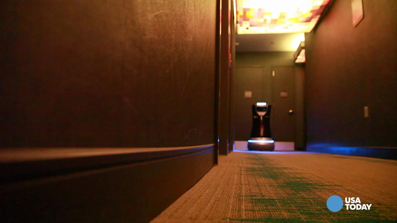 Introducing BOTLR, the creation of Aloft Hotels.  The robotic butler navigates the halls and elevators to deliver a variety of items to hotel guests.