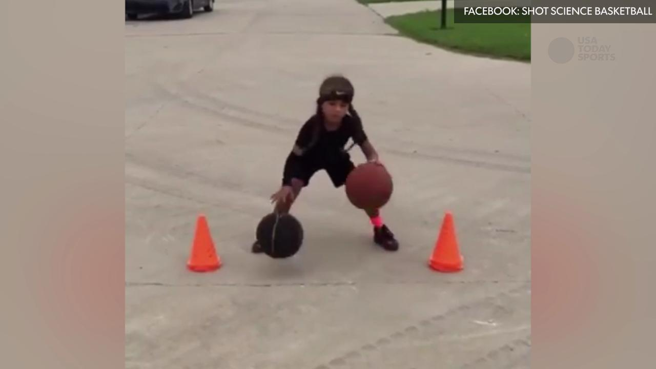 Is this 6 yr old the next Steph Curry