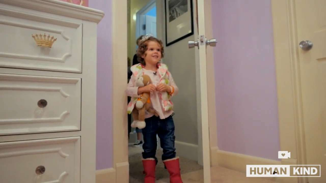 Special little girl surprised by princess room makeover