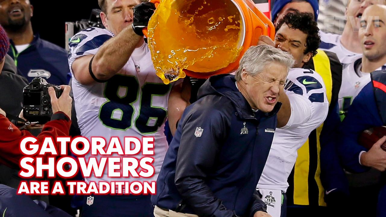 How not to give a gatorade shower