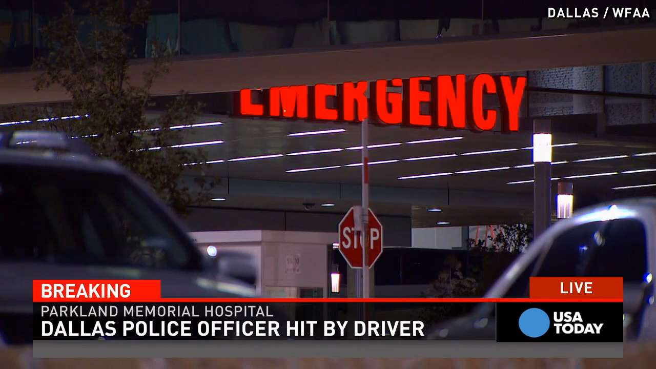 Police: Officer hospitalized right after getting run over