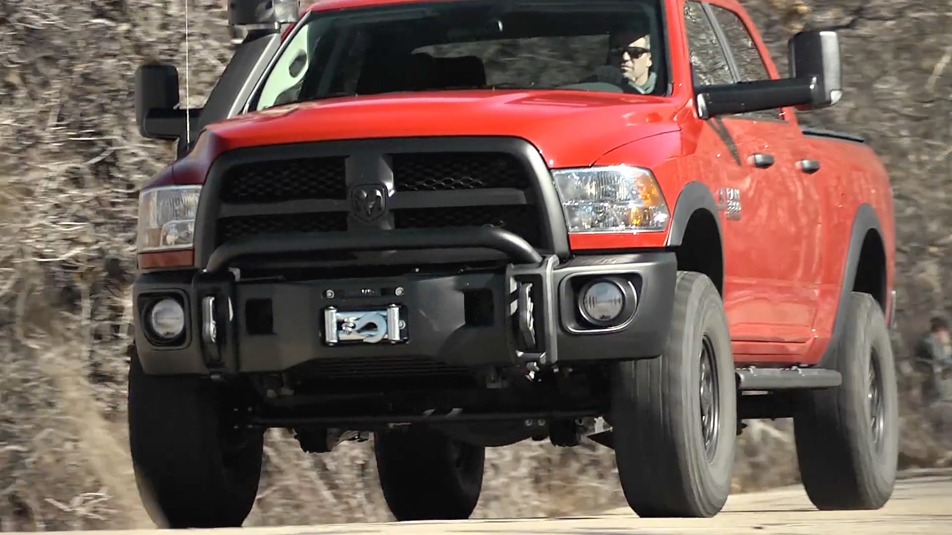 A Dodge Ram turned off-road brute