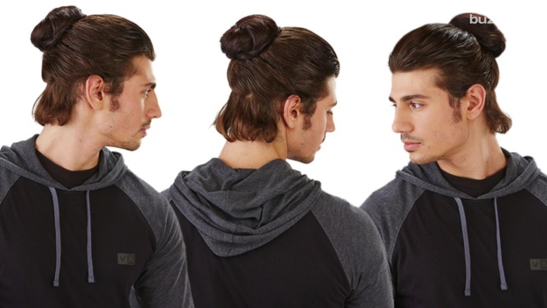 Clip on man buns are officially a new thing