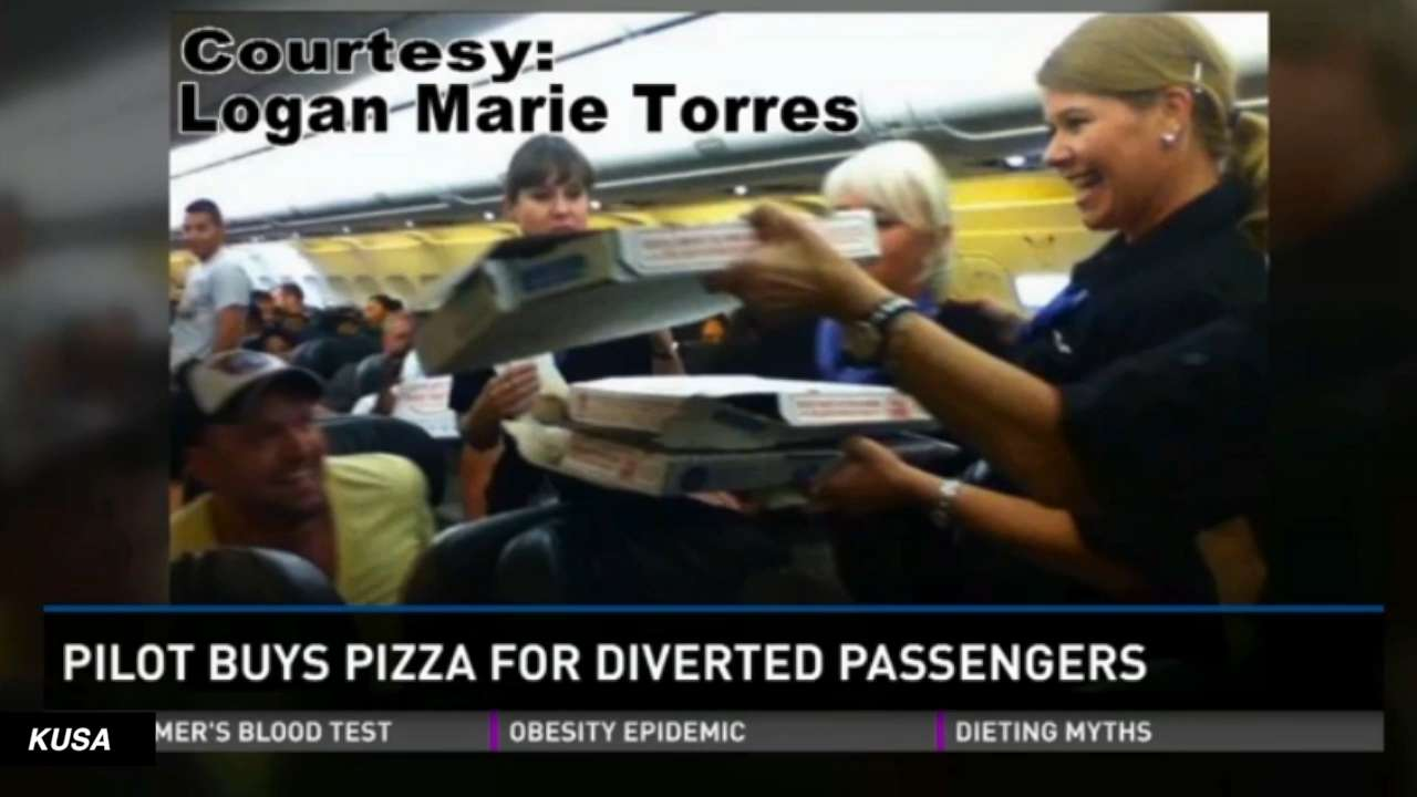 Frontier Pilot Makes Up For Delay With Pizza Delivery