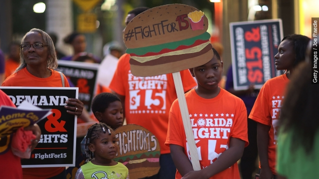 Fast-Food workers nationwide strike For $15 minimum wage