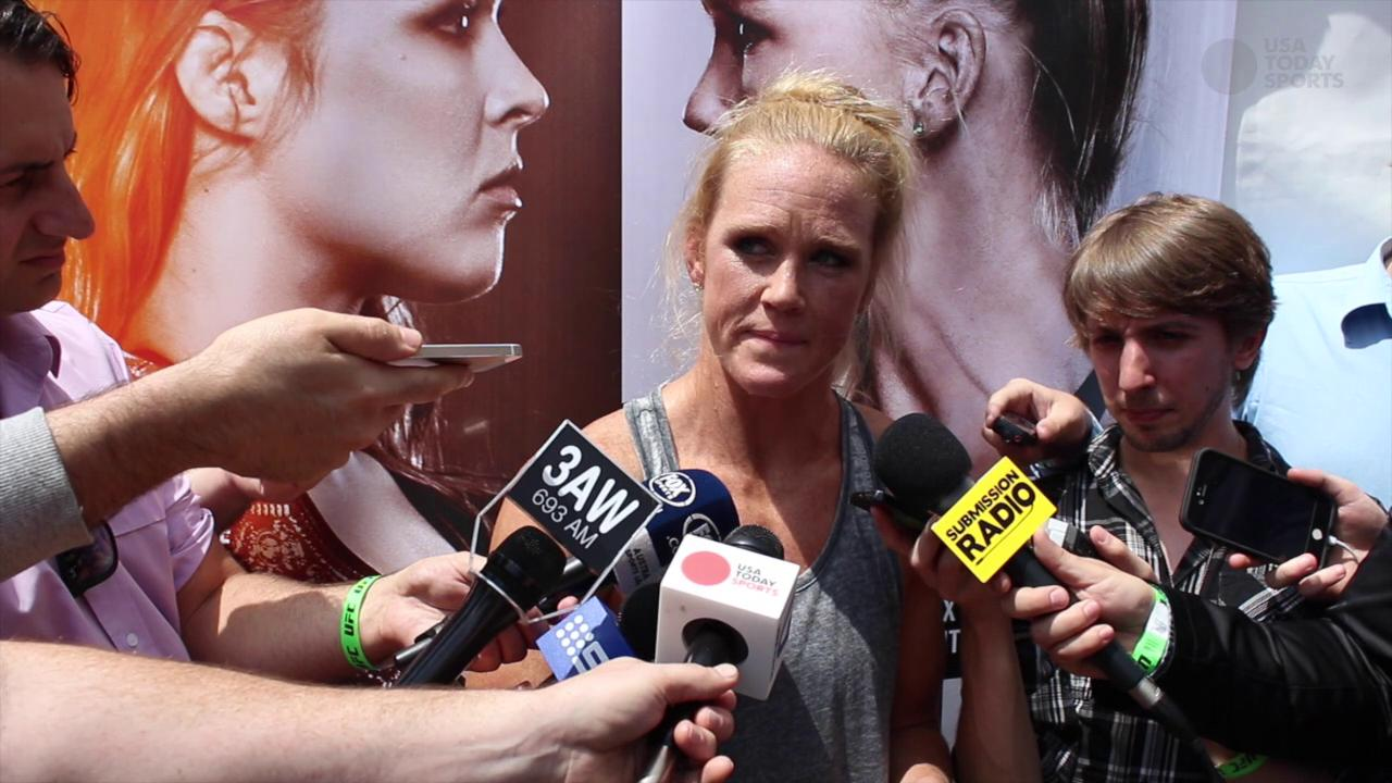 Holly Holm feeling the love in Australia, ready to shock the world