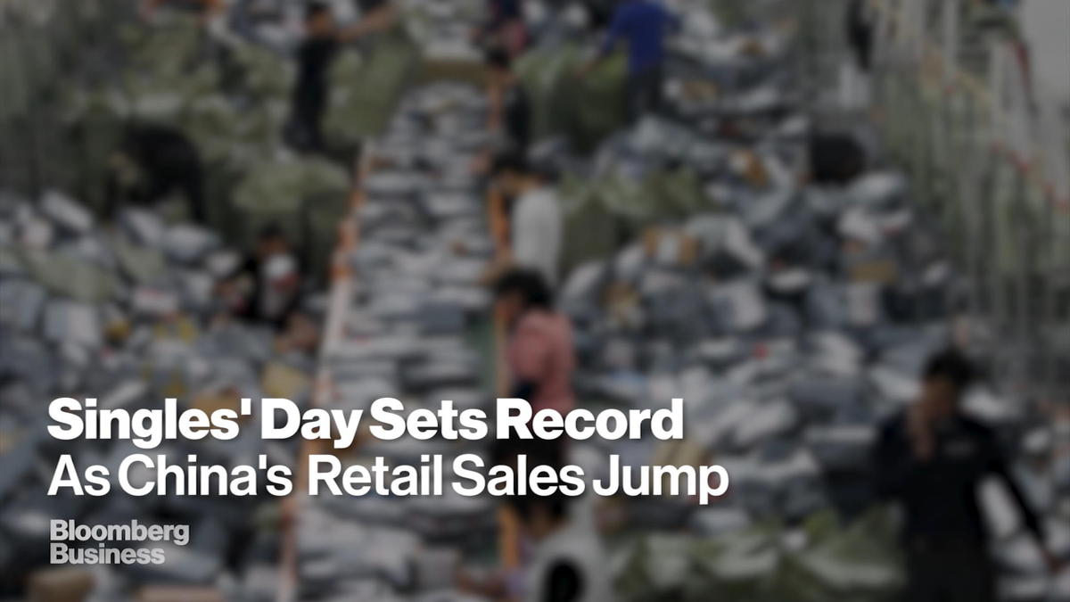 November 11 -- It only took Jack Ma half the time Wednesday to sell the same amount of stuff as he did a year ago with his online channels. Transactions through Alibaba Group Holding Ltd. during the annual Singles' Day shopping event passed 57.1 bil