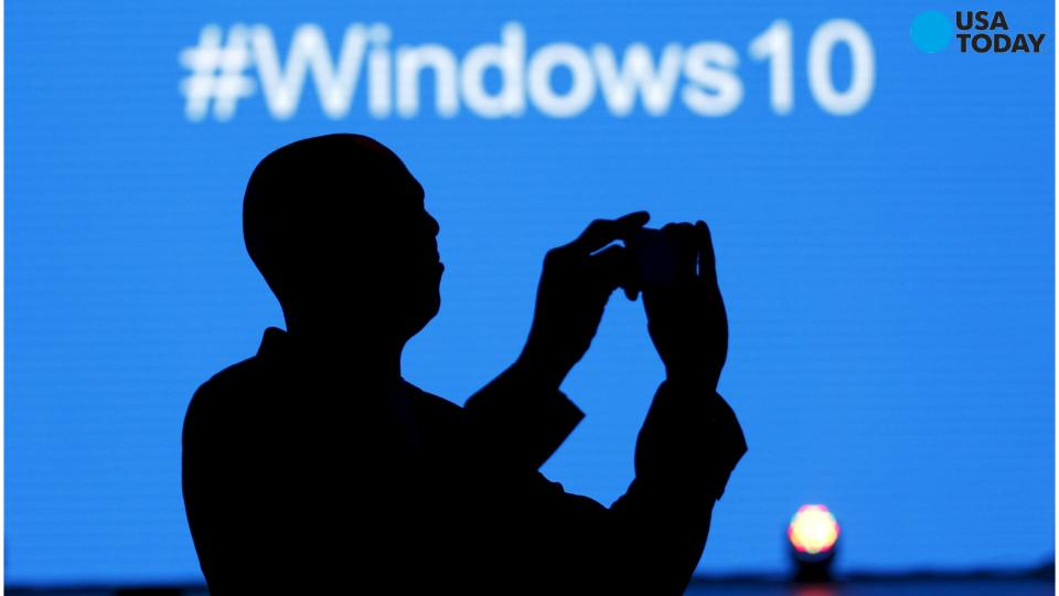 FILE - In this Jan. 21, 2015, file photo, Microsoft CEO Satya Nadella speaks at an event demonstrating the new features of Windows 10 at the company's headquarters in Redmond, Wash.