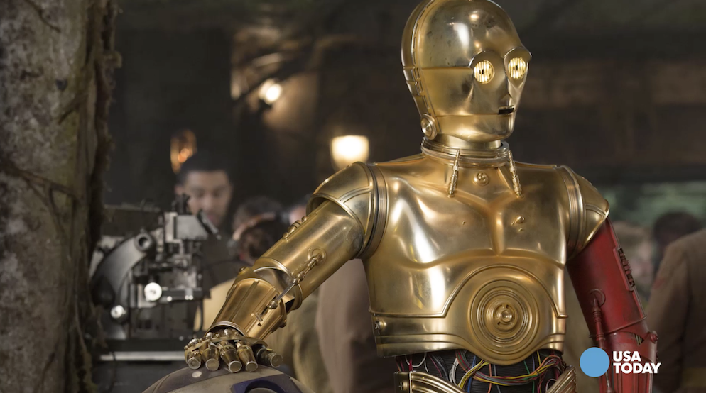 C3PO actor on droid's new red arm and the debut of BB-8
