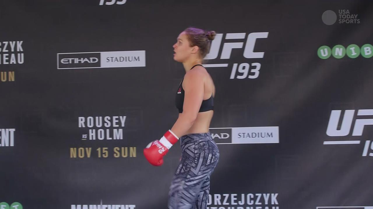UFC 193 Ronda Rousey's Open Workout