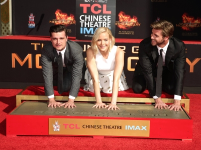 'Hunger Games' Cast Get Their Paws Dirty