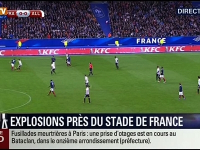 Raw: Explosions Heard During France Soccer Match