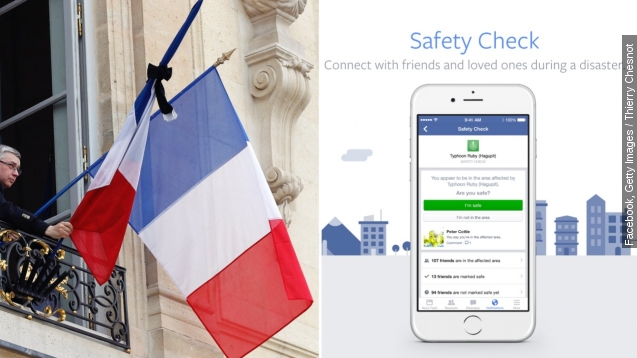 Some question Facebook's response to Paris tragedy