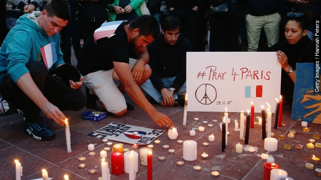 How an artist's 'Peace For Paris' symbol went international