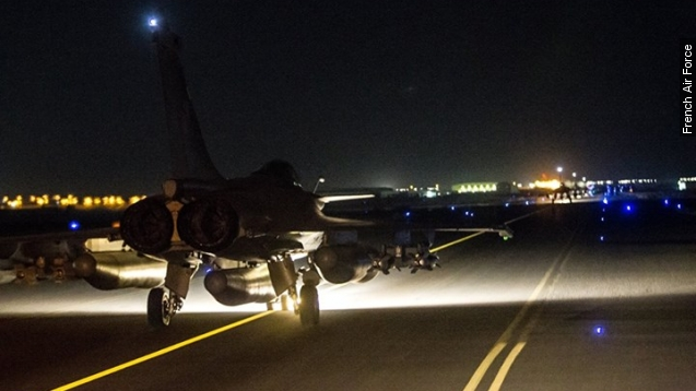 French jets strike ISIS targets in Syria