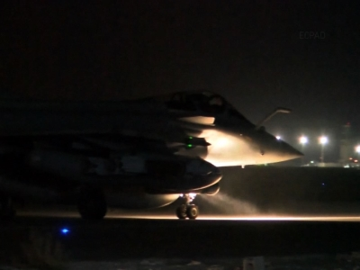 French jets take off for Syria airstrike