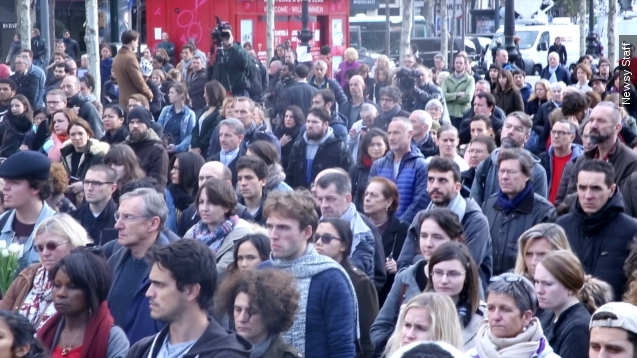 Paris remembers victims in moment of silence