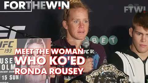 Meet the woman who KO'ed Ronda Rousey