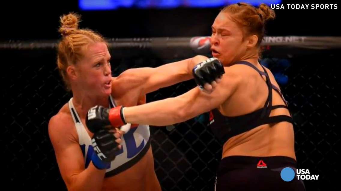 Donald Trump celebrated former bantamweight champion Ronda Rousey's loss to Holly Holm at UFC 193.