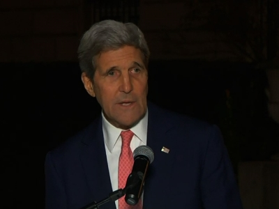 "Kerry: We Won't ""Be Intimidated by Terrorists"""
