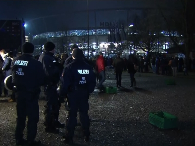 Raw: German Stadium Evacuated After Bomb Threat