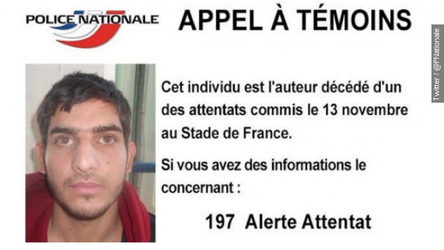 French police release photo of suspected Paris bomber