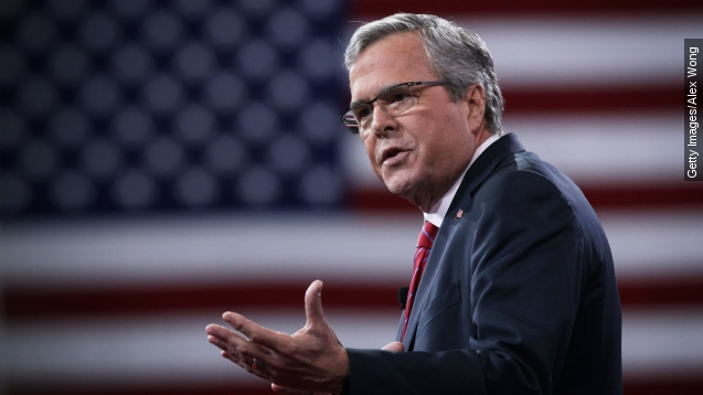 Jeb Bush breaks away from rivals with stance on refugees