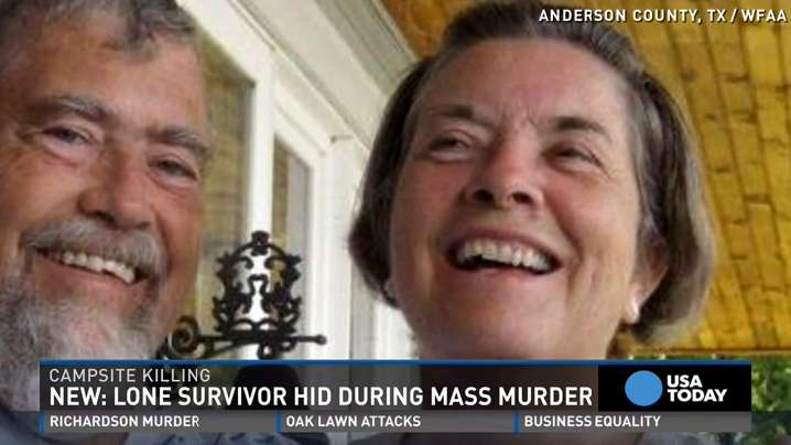 Survivor in mass murder at Texas campsite hid from shooter