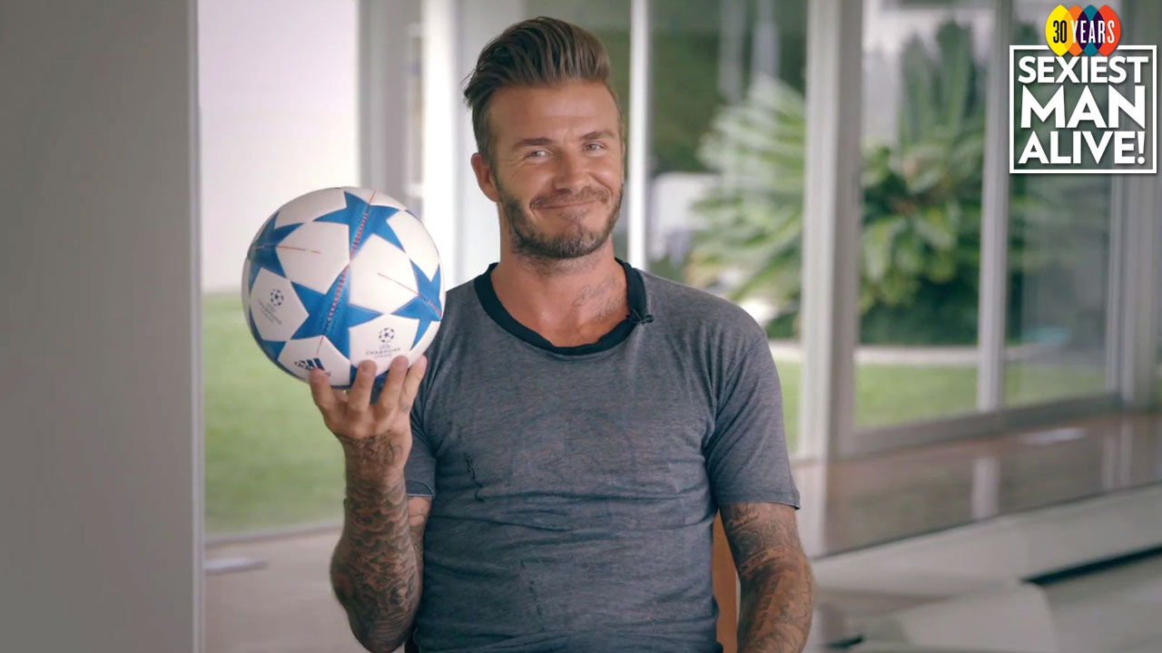 Can he really 'Bend it like Beckham'? We Put David to the test