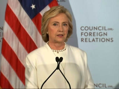Clinton: US must lead global fight against ISIS