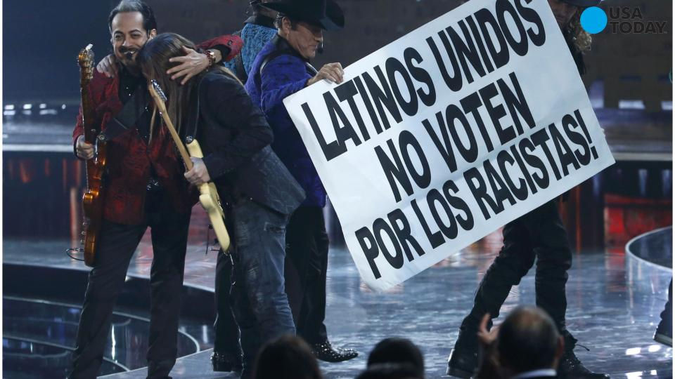 Donald Trump gets called out big time at Latin Grammys