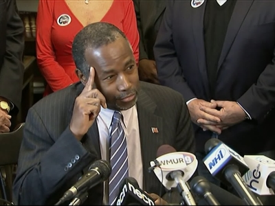 Carson Pushes Back on Trump Muslim Comments