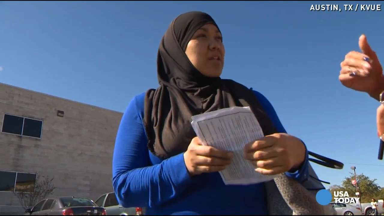 Muslim woman told to 'go away' in hateful note