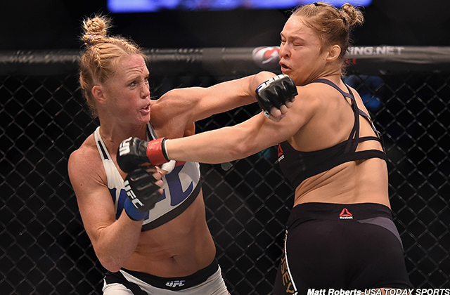 Fighters still buzzing from Holly Holm's defeat of Ronda Rousey