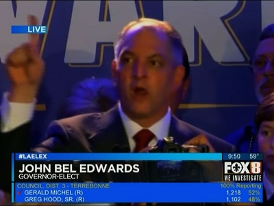 Louisiana Chooses Democrat as Next Governor