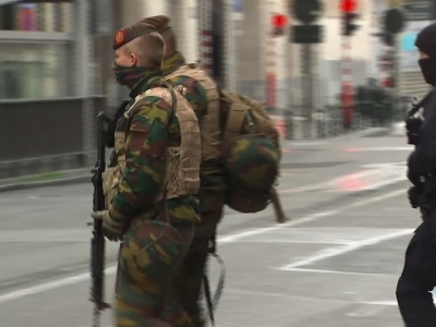 Security on high alert on Brussels streets
