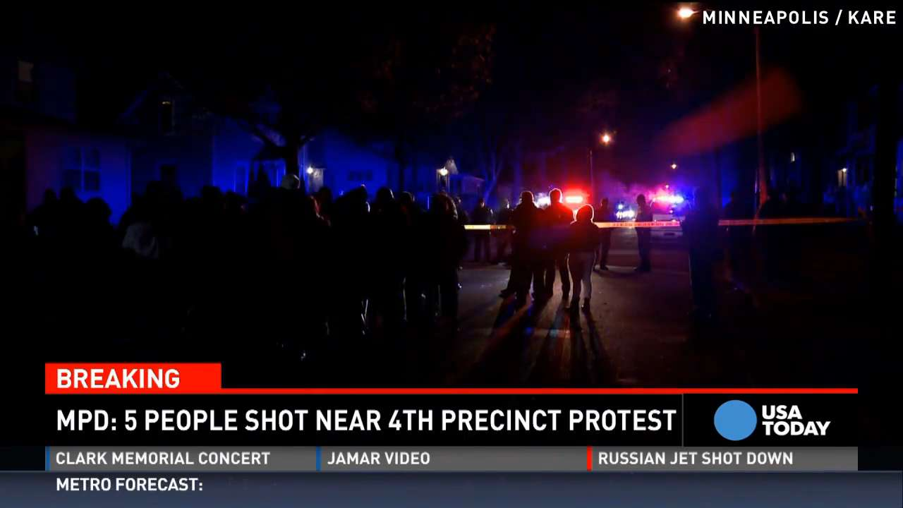 5 people shot near protests for police shooting victim