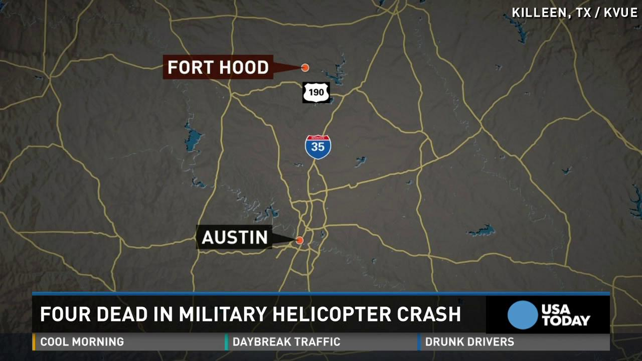 4 killed in Fort Hood helicopter crash